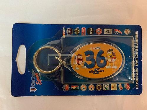 2002 M&M's - Sport Key Chain (New) / Ken Schrader   Keychain  #1