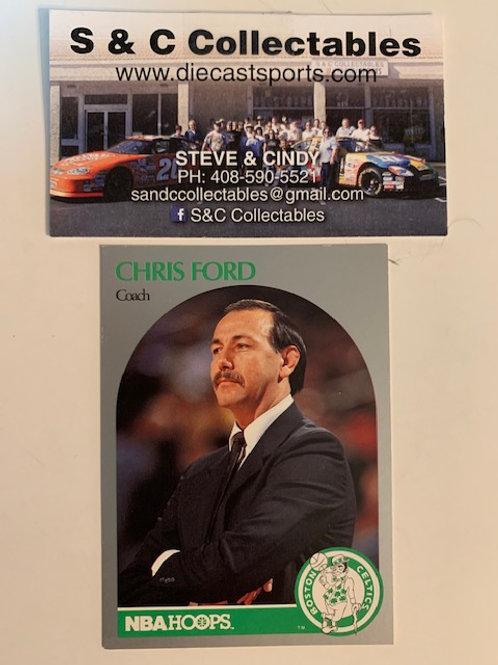 1990-91 NBA Hoops Chris Ford Coach Card# 306 / Basketball-BK1