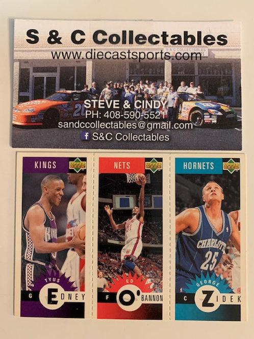 1996-97 Upper Deck M71 Edney, M53 O'Bannon, M10 George Zidek  / Basketball--BK1