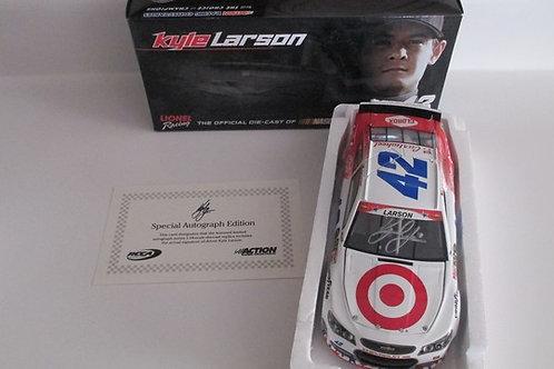 2014  Autographed Target NASCAR Salutes (Rookie Car)  / Kyle Larson 1:24  Wall