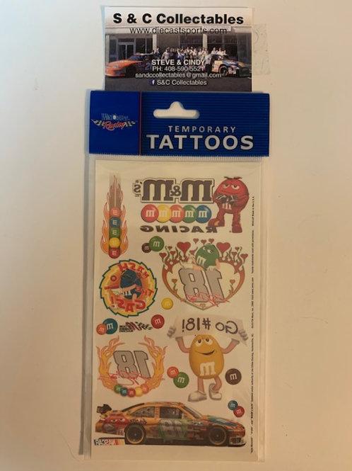 2008 M&M's Temporary Tattoos / Kyle Busch Decals   Peg
