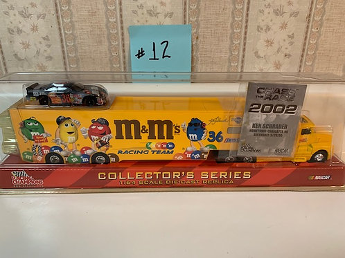 2002 M&M's Transporter  with Halloween Car / Ken Schrader 1:64
