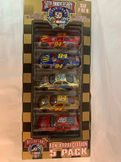 1998 Fan Appreciation 5 Car Set / Various Drivers 1:64  Peg
