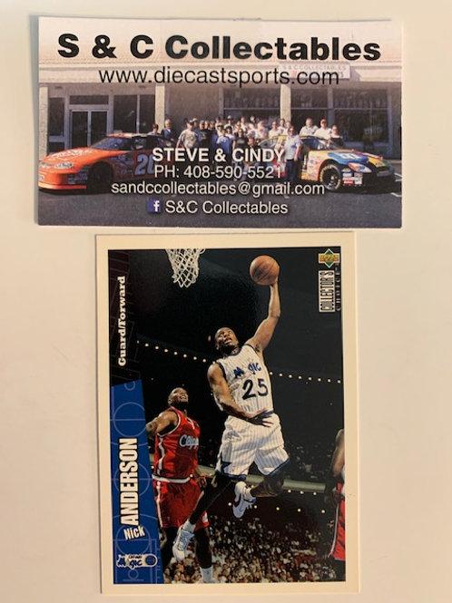 1996-97 Upper Deck Nick Anderson Forward-Guard Card# 107 / Basketball--BK1