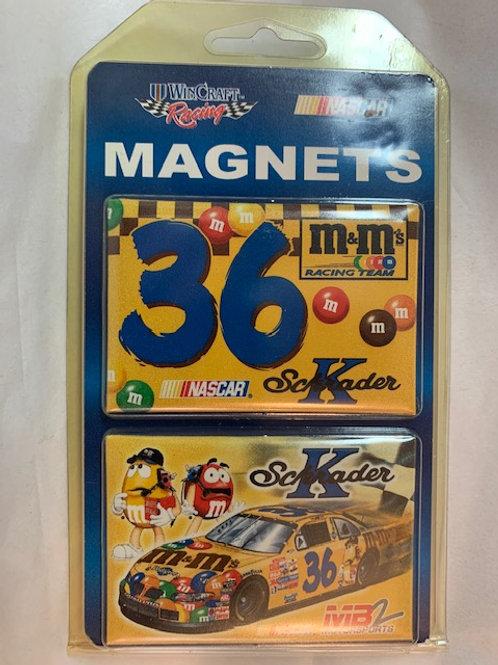 "2002-04 Two Pack Magnets 3"" X 2"" New / Ken Schrader   Corner Shelf  1"