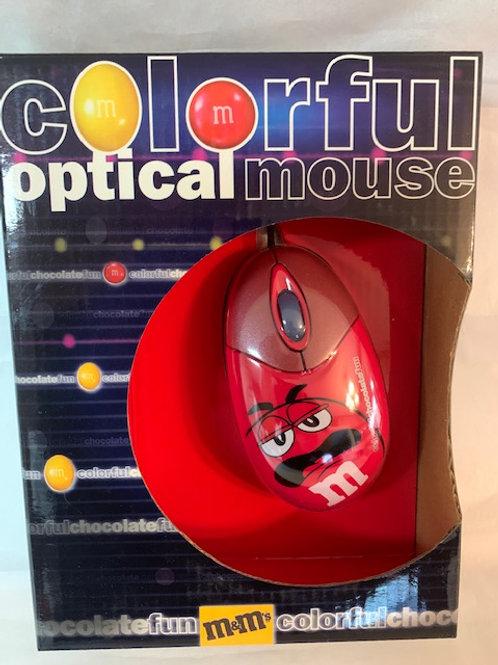 2003 M&M Mr. Red  Colorful Optical Mouse  / M&M Stuff Shelf