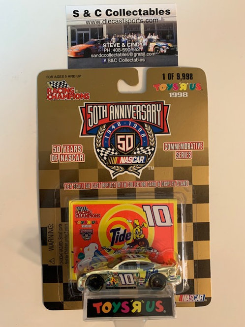 1998 Tide Give Kids a World Toy's R Us Gold Car / Ricky Rudd 1:64  Box# 42