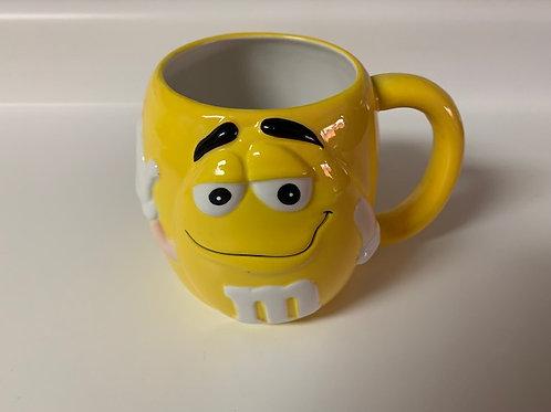 2002 M&M Ceramic Yellow Coffee XL Mug / M&M Stuff Glass#1