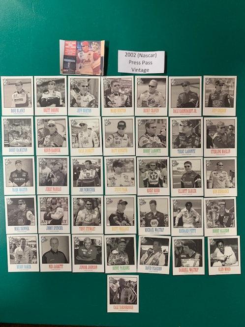 2002 Press Pass (Vintage) 36 Card Set  (Nascar) Box# BB