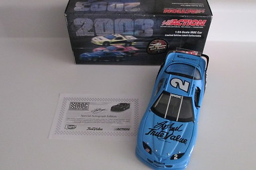 2003 Autographed True Value IROC Talladega Win   / Kurt Busch 1:24 Wall