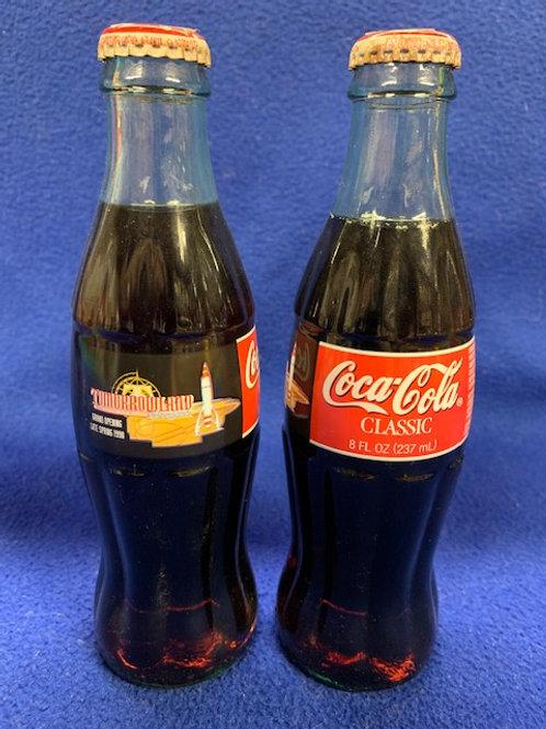 1996 Coca-Cola Disney's Tomorrow-Land Grand Opening  Coke Bottle