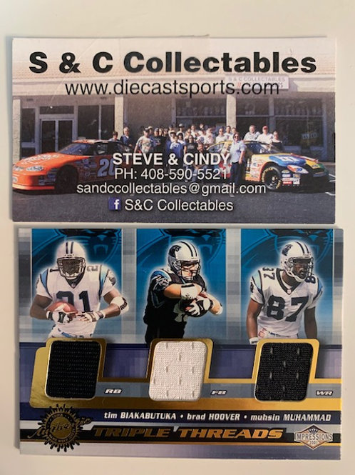 2001 Pacific Trading Triple Threads Carolina Panthers  / Football Box# F1