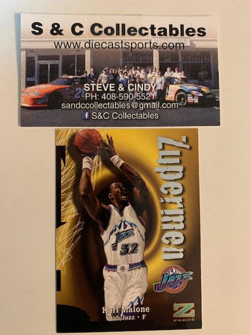 1997-98 Skybox Z-Force Zupermen Karl Malone  Card# 206  / Basketball-BK1