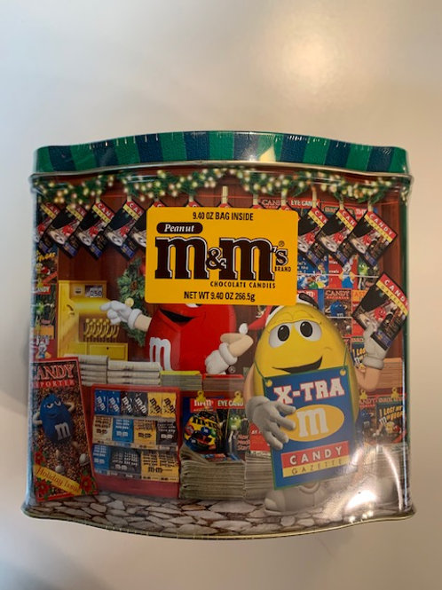 2001 M&M Season's Greetings Christmas Village (Never Opened) / M&M Stuff Tin#12