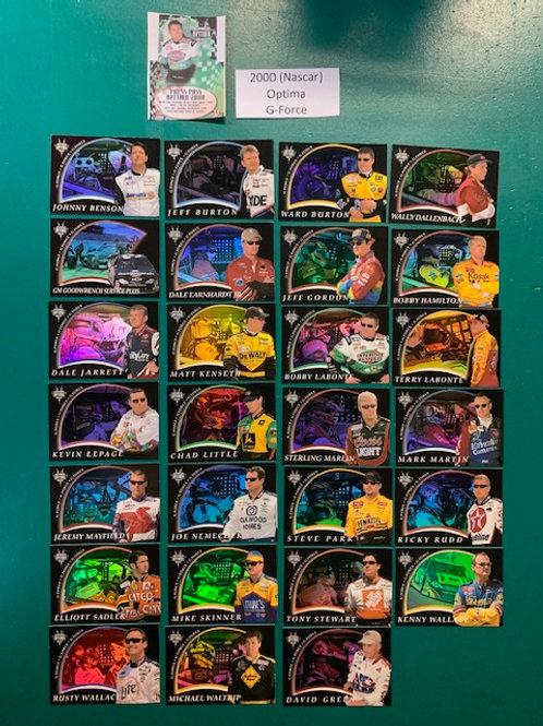 2000 Optima G-Force 27 Card Set (Nascar) Box# BB