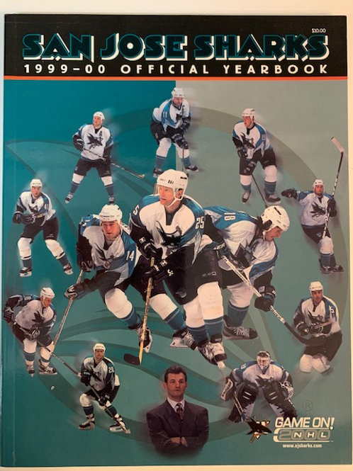 1999 San Jose Sharks 1999-2000 Official Yearbook