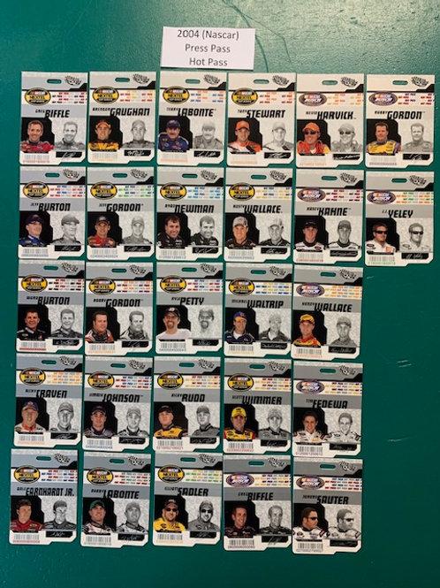 2004 Press Pass (Hot Pass) 27 Card Set (Nascar) Box# BB