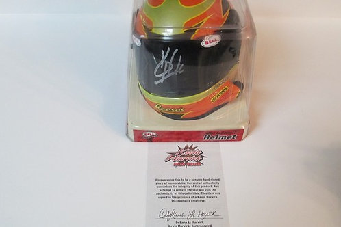 2006 Autographed Reese's Helmet / Kevin Harvick 1:4  Wall