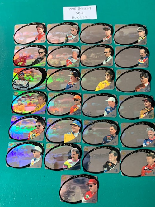 1996 SP-X (Hologram) 25 Card Set (Nascar) Box# DD