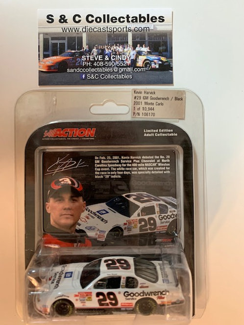 2001 GM Goodwrench - Black  (Rookie Car) / Kevin Harvick 1:64
