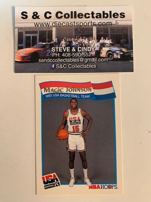 1991 NBA Hoops Magic Johnson USA Card# 54  / Basketball-BK1