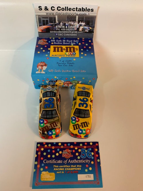 1999 M&M's 2 Car Set / Ernie Irvan 1:64 Shelf
