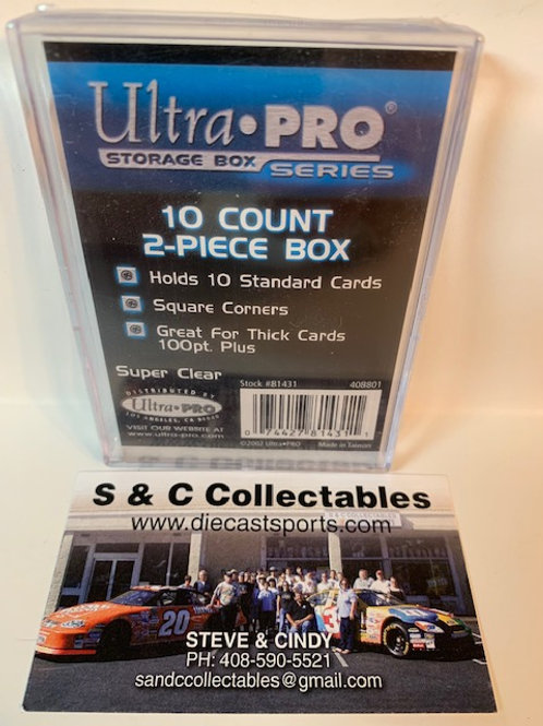 Ultra Pro 10 Count Clear 2 Pc. Storage Boxes / Ultra Pro Supplies