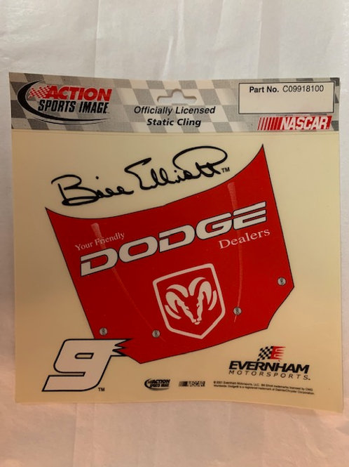 2001 Static Cling Decal / Bill Elliott  Decal# 1