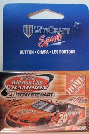2002 NASCAR Winston Cup Champion 2X4 Pin / Tony Stewart Hat Pin #2