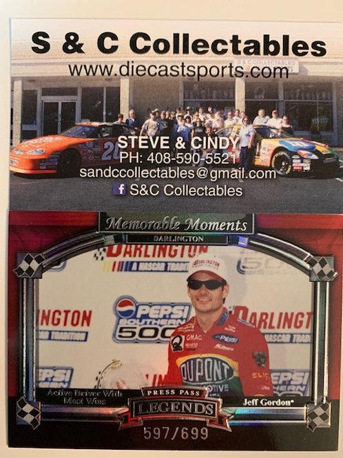 2006 Memorable Moments Darlington Silver / Jeff Gordon Cards