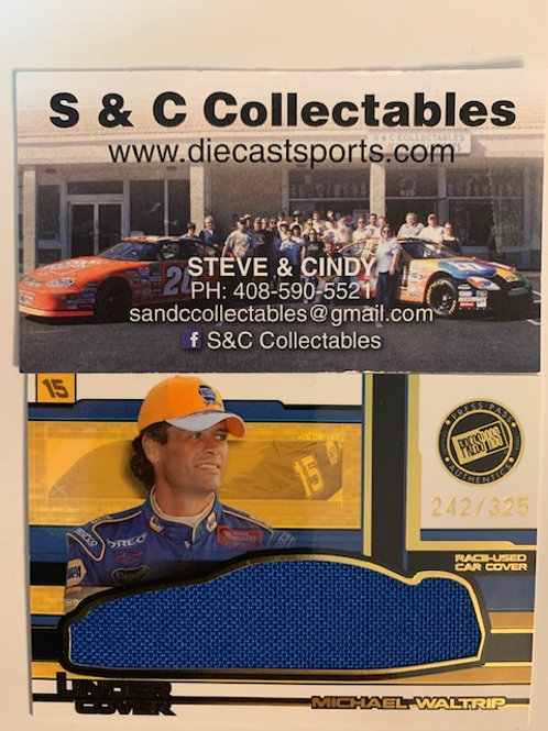 2004 Race-Used Car Cover / Michael Waltrip Cards
