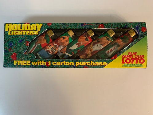 1993 Set of 5 New Camel Holiday Lighters Drawer# 1