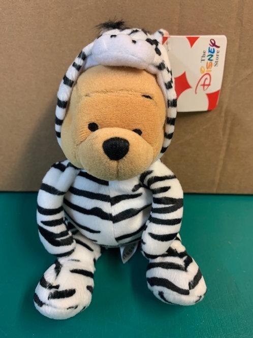 "Disney Beanies Winnie the Pooh Zebra 8"""