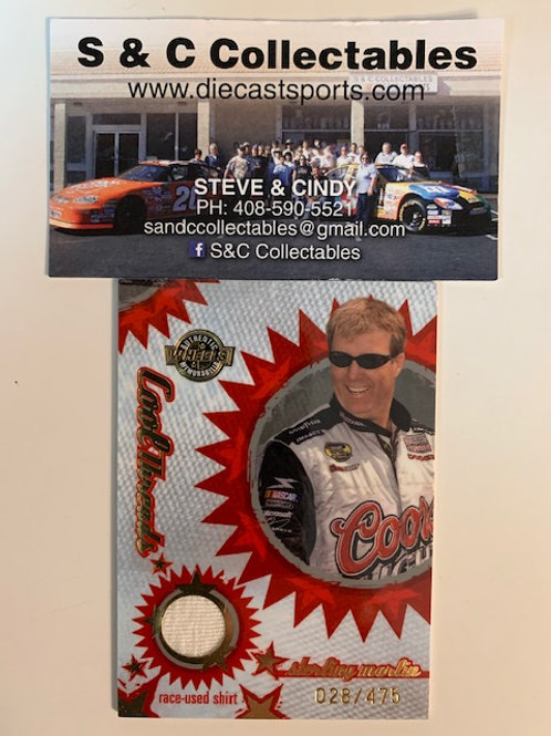 2005 Cool Threads Raced-Used Piece of Shirt / Sterling Marlin Box# AA
