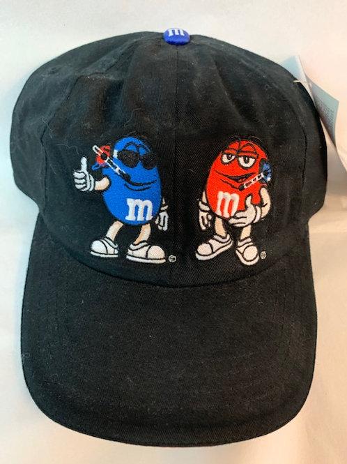 2003 M&M's Hat with Pit Crew of Cool Blue & Mr. Red  / Elliott Sadler Hat#38