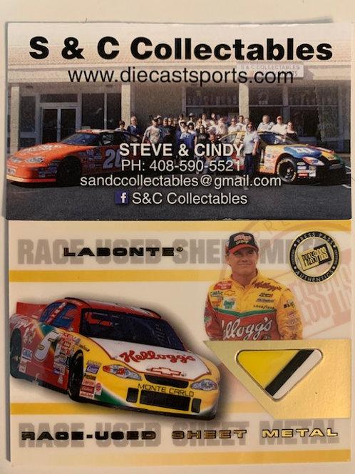2002 Sheet Metal Race-Used Piece   / Terry Labonte Box# AA
