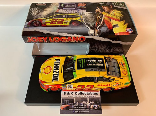 2018 Shell-Pennzoil NASCAR Cup Series Champion / Joey Logano 1:24 Wall