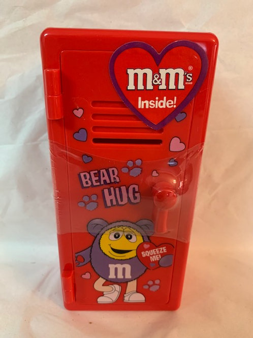 2002 M&M Bear Hug/Squeeze Me  Valentine Red Locker (Never Opened)  / M&M Stuff