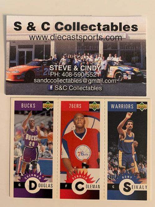 1996-97 Upper Deck M45 Douglas, M62 Coleman, M28 Seikaly  / Basketball--BK1