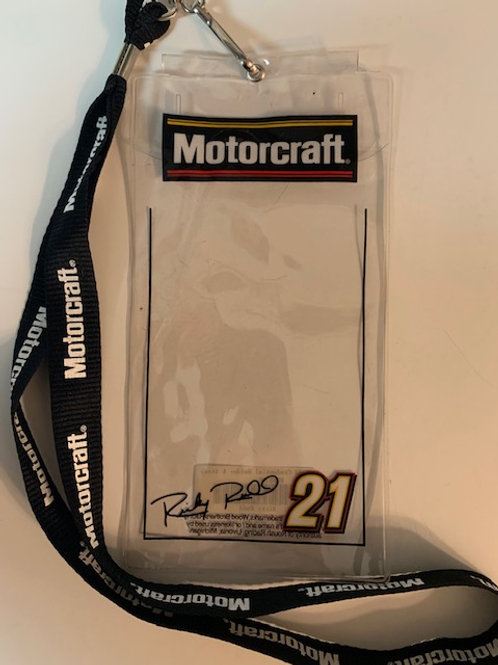 2003 Motorcraft Credential Holder w/Lanyard / Ricky Rudd  Box# 100