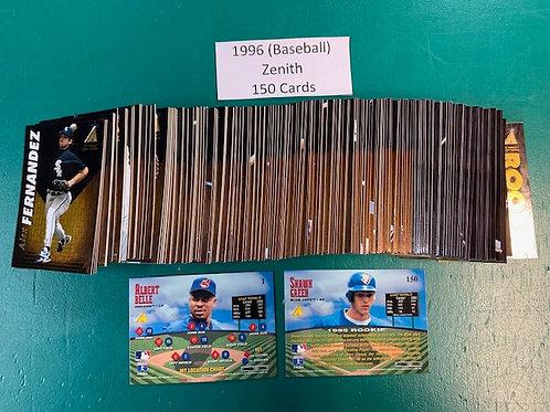 1996 Pinnacle Zenith Complete Set 1-150 / Baseball   Box# B1
