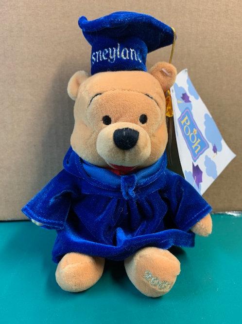 "Disney Beanies Willie the Pooh 2001 Graduate  8"""