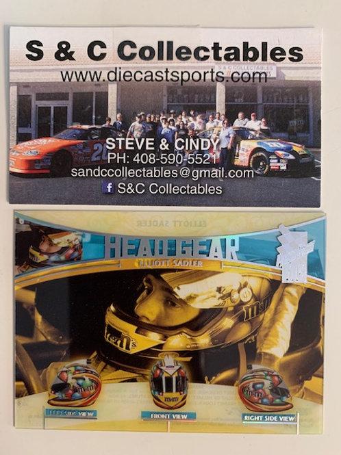 2005 Press Pass VIP (Head Gear) HG-9/12  / Elliott Sadler Box# AA