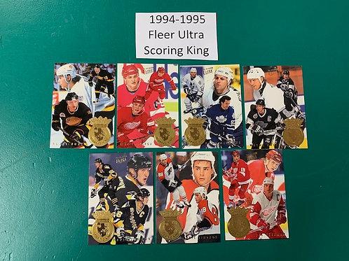 1994-95 Fleer Ultra(Scoring King) 7 Card Set (Hockey) Box# CC