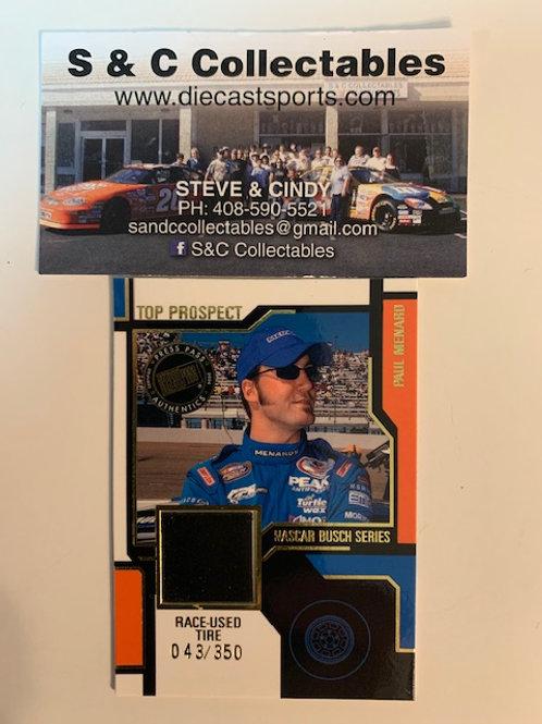 2004 Race-Used Piece of Tire / Paul Menard  Cards