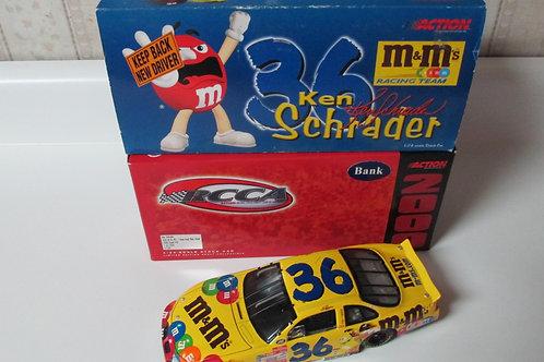 2000 M&M's RCCA Clear Window Bank / Ken Schrader 1:24