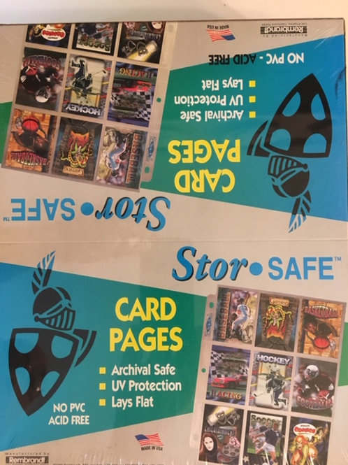 Stor Safe 100 Pages 9 Pocket Card Storage / Ultra Pro-Supplies