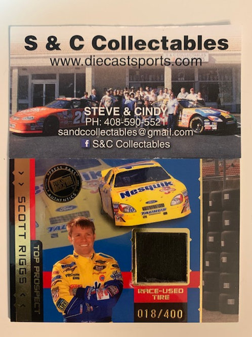 2003 Race-Used Piece of Tire / Scott Riggs  Cards