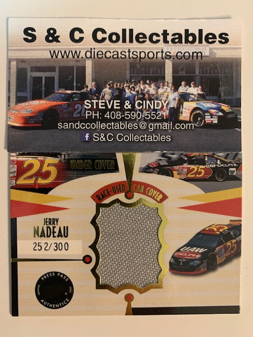 2002 Race-Used Car Cover / Jerry Nadeau Cards