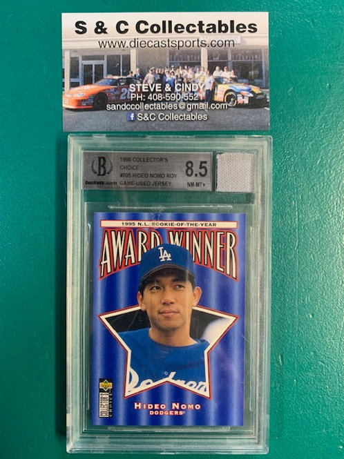 1996 UD Collector's Choice  8.5  Hideo Nomo Pc of Jersey / Baseball  Box# B1